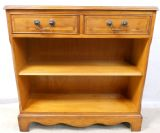 Yew Open Standing Bookcase in Antique Regency Style